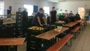 Lebensmittelausgabe in Zeiten von Corona